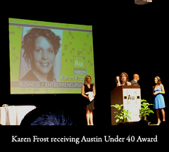 Receiving the AU40 Award